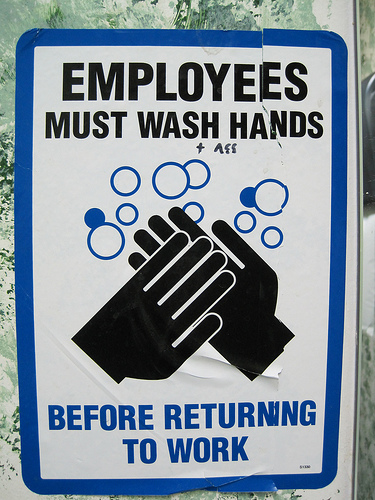 image about Printable Hand Wash Signs referred to as Why Are Restroom Hand-Washing Signs or symptoms Via the Sinks