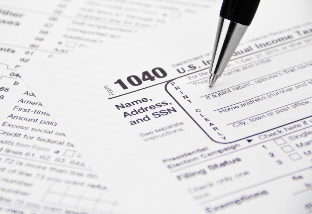Irs 1040 Tax Form Being Filled Out Freakonomics Freakonomics