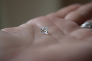 Photo of the diamond won by the Sarata family at a charity event. (Photo: Kristen Sarata)