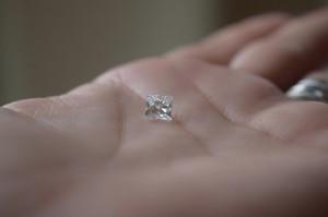 Photo of the diamond won by the Sarata family at a charity event. (Photo: Kristen Sarata)