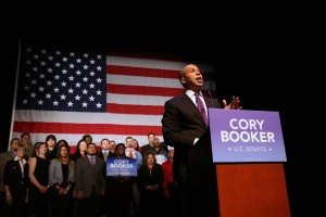 "Does Cory Booker, junior U.S. Senator from New Jersey, see a way forward for America that everyone else has missed? ""I can't pay back the blessings that I inherited…you've got to pay it forward."" (photo: Spencer Platt/Getty Images)"
