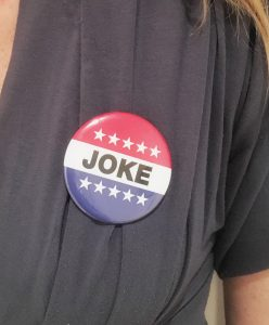 Is voting a joke? (Photo: Jolenta Greenberg)