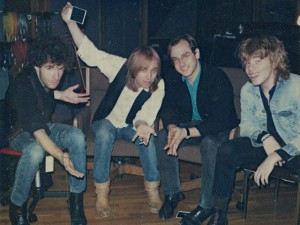 The Del Fuegos with Tom Petty; Warren Zanes is far right. (photo: Alison Reynolds)